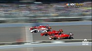 2013 Firestone Indy Lights Close Finish! Freedom 100 4 Wide Finish