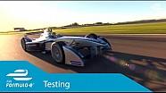 Formula E Car - Test Debut