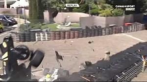 Huge Crash Bonifacio, Van Buuren WSR 2015 Monaco