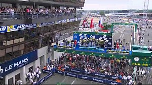 The 83rd Edition of the 24 Hours of Le Mans Podium - LMP2 Category.
