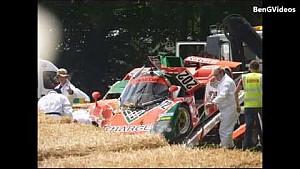 Mazda 767B crash at Goodwood FoS 2015