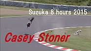 High speed crash of Casey Stoner - Suzuka 8 hours 2015