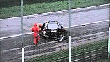 Heavy crash at the GT Open Monza race