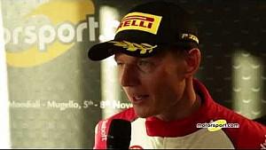 Ferrari World Finals | Top-3 interviews from Trofeo Pirelli Europe AM Race 1 at Mugello
