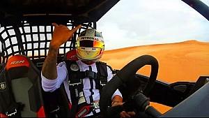 Onboard Hamilton's dune drifting