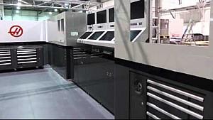 Haas F1 constructs its garage setup