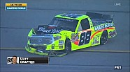 Hard crash takes out leader Matt Crafton