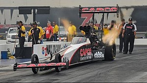 Steve Torrence leads qualifying at the NHRA #4WideNats in Charlotte