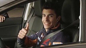 Marc Marquez looks for passengers in Villamartin