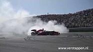 Donuts por Max Verstappen en el RB8 Red Bull Racing, Circuit Park Zandvoort, 05/06/2016