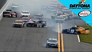 The 'Big One' at Daytona collects 14 cars on the backstretch