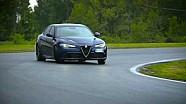 Alfa Romeo Giulia Quadrifoglio on track