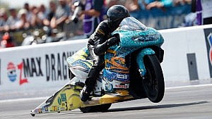 Jerry Savoie outruns the field in Pro Stock Motorcycle in Charlotte