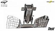 Giorgio Piola - Développement de l'aileron avant expériental 2017 de McLaren