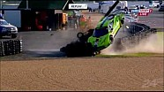 24 Hours of Le Mans Tracy Krohn Huge Crash