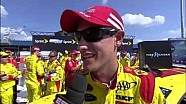 Joey Logano Parties in Victory Lane at Michigan International Speedway