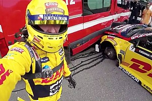 WTCC Breaking news Coronel escapes 25G crash with fire van unscathed