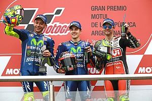 MotoGP Yarış raporu MotoGP Arjantin: Bol kazalı yarışta Vinales kazandı, Yamaha duble yaptı