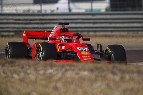 F1: Sainz melhora tempo no teste em Fiorano antes de passar Ferrari para Schumacher