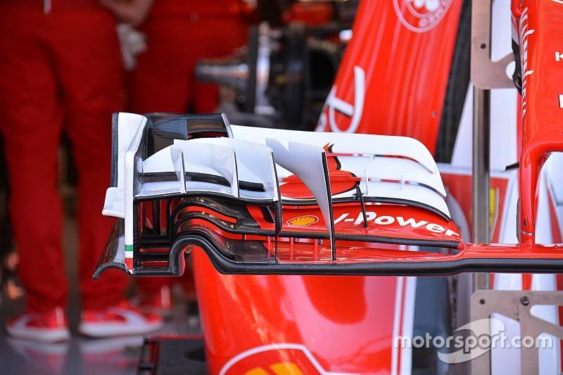 Ferrari: flap con corda minore sull'ala anteriore della SF16-H