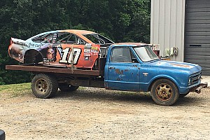 Dale Jr. adds Danica Patrick's Kansas wreckage to his car graveyard