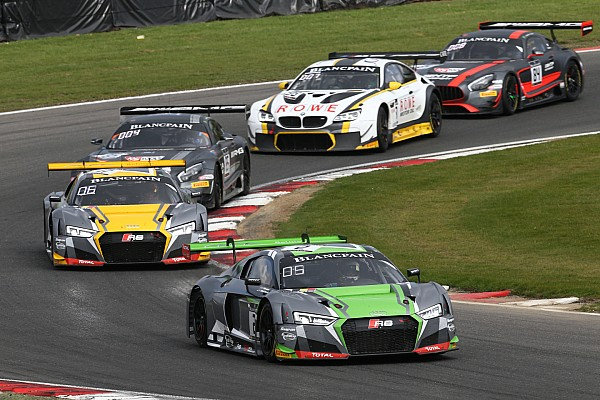 Blancpain Sprint Race report Winkelhock, Stevens lead Audi 1-2-3-4 in Zolder main race