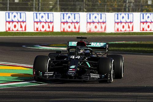 Hamilton lidera treino livre único na volta da F1 à Ímola; Verstappen se coloca entre as Mercedes