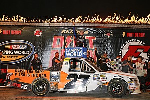 NASCAR Truck Race report Chase Briscoe takes dramatic Truck win in photo finish at Eldora