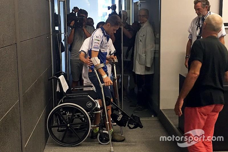 Been van Rabat in 'een S-vorm' na zware crash op Silverstone