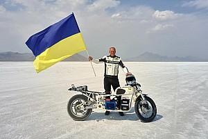 Українець Малік встановив світовий рекорд швидкості Бонневілля на електромотоциклі «Дніпро»