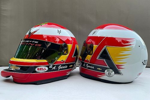 El casco homenaje a Adrián Campos que Antonio García llevará en Le Mans