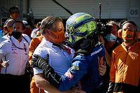 """Norris""""fier"""" de McLaren après un podium gagné dans les derniers tours"""