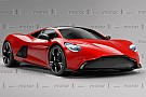 Automotive Mid-engined Aston Martin rendered