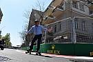 Pályabejáráson az F1-es csapatok Bakuban