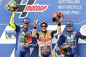 MotoGP Últimas notícias Márquez fica perto de título em belo GP; as fotos do domingo
