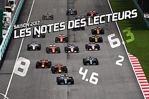 Formule 1 Contenu spécial Quelle note avez-vous attribuée aux pilotes de F1 en 2017?