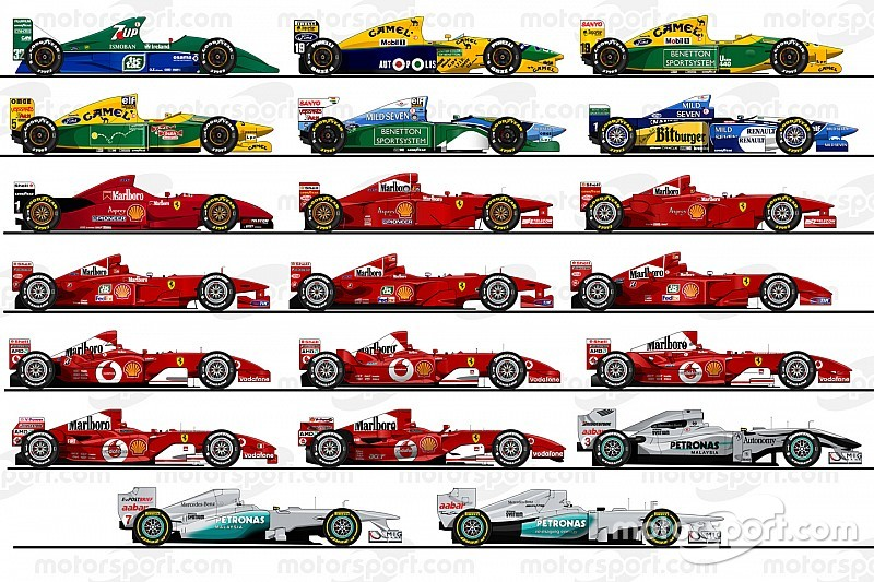 GALERI: Ilustrasi semua mobil F1 Michael Schumacher