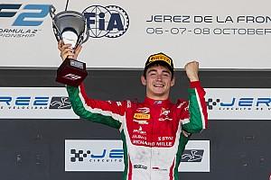 FIA F2 Actualités Leclerc dédie son titre de Formule 2 à son père