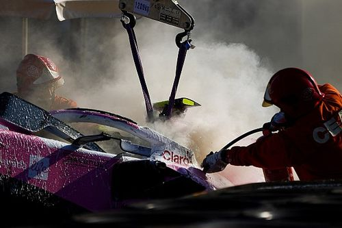 Un fuerte accidente en F1 que añade presión a Racing Point
