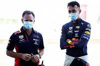 """Horner: """"Albon was ruim seconde sneller dan Hamilton en Bottas"""""""