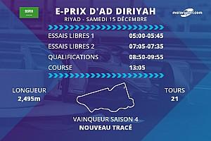 E-Prix d'Ad Diriyah: programme et diffusions TV