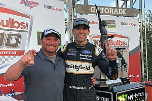 Eye in the Sky: Joel Edmonds celebrates first win with Aric Almirola