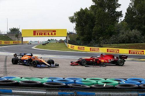 Leclerc y Norris critican duramente la acción de Bottas en Hungría