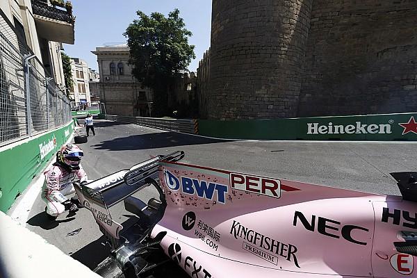 F1 Noticias de última hora Pérez y su golpe en Bakú: