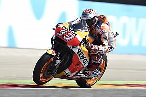 El warm up fue de Márquez en Aragón