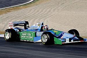 Mick Schumacher sulla Benetton B194 del papà prima del GP di Spa
