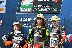 CIV PreMoto3 Gara Elia Bartolini resiste a Surra e centra il successo in Gara 1