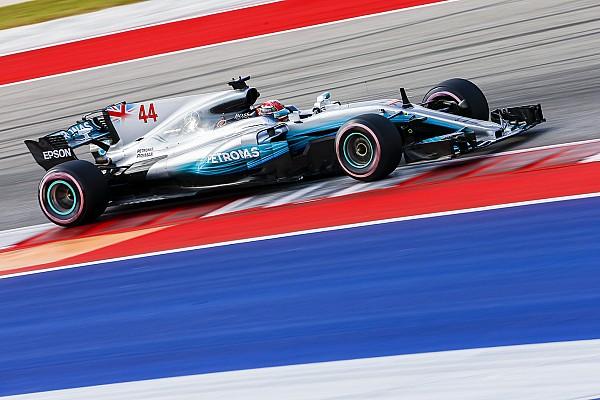 F1 Reporte de prácticas Hamilton impone su ley también en los libres 2 de Austin