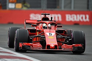 Formula 1 Practice report Azerbaijan GP: Vettel quickest in red-flagged FP3