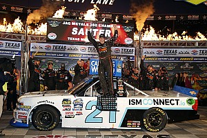 NASCAR Truck Race report Johnny Sauter secures place in Championship 4 with Texas win